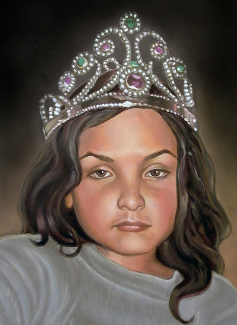 <h2>Boy With Crown</h2><p>**(12 x 8in oil on metal)**</p>